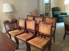 Lot 005 Lot Of 6 Dining Room Chairs 33H x 15.5W x 18L PICK UP IN NORTHPORT