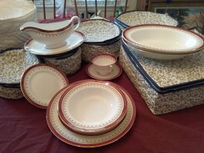 Lot 026 Aynsley English Bone China Service For 12 PICK UP IN GARDEN CITY