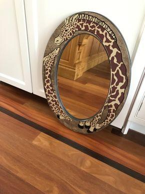 Lot 107 Decorative Giraffe Mirror. 29.5L X 21.5W. PICK UP IN LAWRENCE.