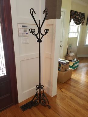 Lot 032 Picking Up at Tag Sale will need assistance to Car Coat Rack 75H x 19W Metal PICK UP IN MALVERNE,NY