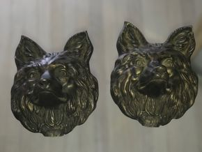 Lot 058 Pair OF Bronze Foxes 9x 8 PICK UP IN ROCKVILLE CENTRE