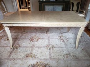 Lot 038 Light Wood Dining Table 29H x 73W x 43L with Leaf and Pads PICK UP IN GARDEN CITY,NY