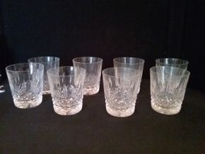Lot 078 Lot of 8 Kenmare Old Fashion Waterford Glasses PICK UP IN ROCKVILLE CENTRE