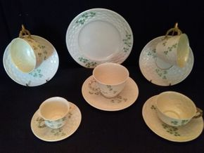 Lot 055 Lot Of Belleek Cups and Saucers PICK UP IN ROCKVILLE CENTRE