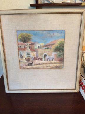 Lot 102 Ira Moskowitz Pastel 8.5 X 27 PICK UP IN GARDEN CITY