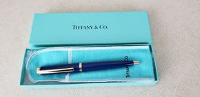 Lot 003 Pick Up  and Co. Navy Pen w/original Pouch and Box  PICK UP IN GARDEN CITY