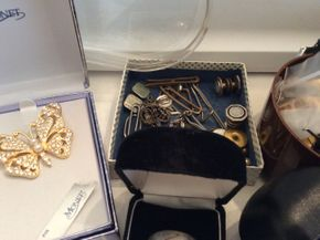 Lot 082 Lot Of Costume Jewelry and Tie Tacks PICK UP IN GARDEN CITY