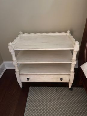 Lot 013 PU Lot of 2 white night stands 30in L X 18in W X 30in H PICK UP IN GARDEN CITY 1