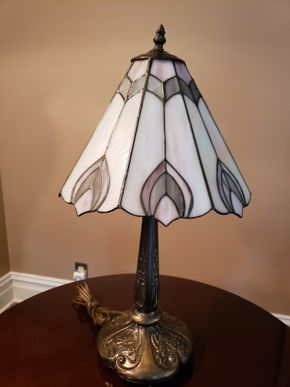 Lot 013 Tiffany Style Table Lamp Dimensions Approx. 18.5H x 7W Base PICK UP IN GARDEN CITY,NY