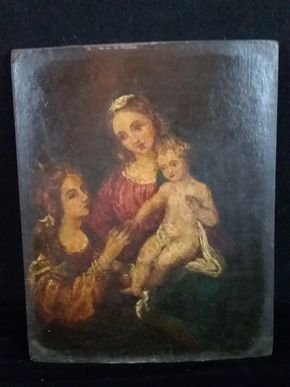 Lot 030 Old Masters on Panel 18-19thC Warped Panel 10.5Hx8.5W