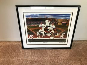 Lot 019 Hand Signed Robert Stephen Simm Lithograph. Dodger Blue  16H X 20L. PICK UP IN INWOOD.