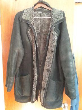 Lot 010 Mens Shearling Jacket Size Large PICK UP IN BELLE HARBOR