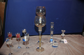 Lot 013 Lot of 11 Candlesticks Various Shapes/Sizes Tallest being 20 inches High ITEMS CAN BE PICKED  UP IN WESTBURY
