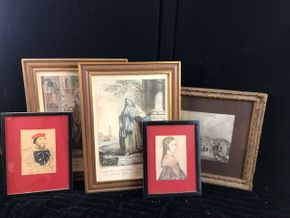 Lot 085 Lot of 5 Assorted Small Prints Framed Assorted Small sizes