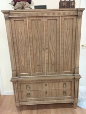 Lot 032 American Of Martinsville High Boy Dresser 60H x 19 w x 40.5L PICK UP IN OCEANSIDE