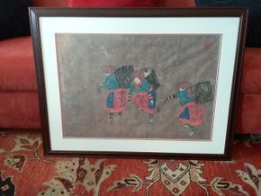 Lot 013 Watercolor On Paper Illegibly Signed - Likely Vietnamese. 18H X 26L. PICK UP IN HEMPSTEAD.