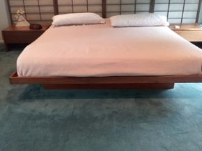 Lot 102 Wood Platform King Size Bed 12 Inches Tall PICK UP IN OLD BROOKVILLE