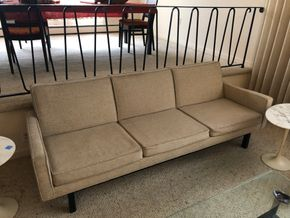 Lot 006 PU Mid Century Modern Upholstered Sofa 84L PICK UP IN RVC