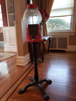 Lot 016 PU and Pay/Vintage Candy Gumball Machine 37H x 8W x 8D PICK UP IN GARDEN CITY,NY