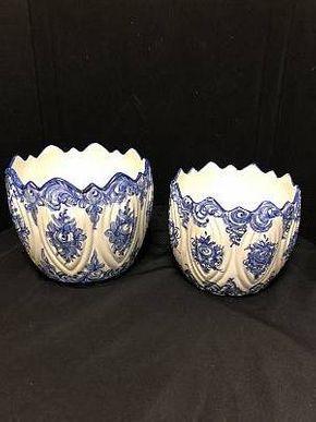 Lot 064 Lot of Two Vestal Decorative Bowls. 8.5 H X 9.75 W