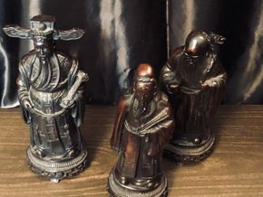 Lot 088 Carved Resin Immortal Statues PICK UP ON NORTH MASSAPEQUA