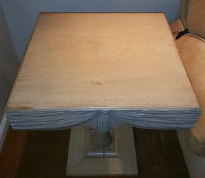 Lot 004 Wooden End Table 30H x 25W x 25L PICK UP IN HEWLETT,NY