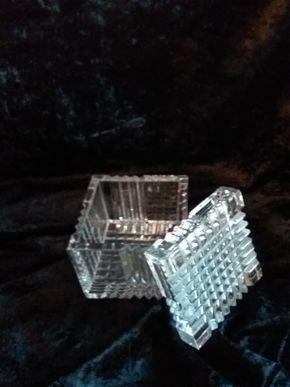 Lot 002 Crystal Tiffany Box 3.25 x 3.25x 3.25 PICK UP IN CEDARHURST