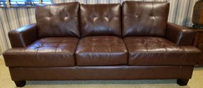 Lot 009 Leather Pullout Sofa  29H x 83.75DW x 34.5D PICK UP IN HEWLETT,NY