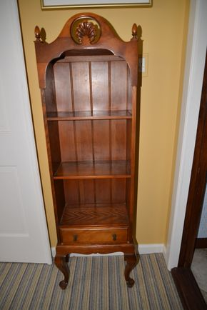 Lot 033 Pick Up Wood Shelving Unit with a draw 54.5H x 9W x 15.5L  maker Ferguson PICK UP IN ROCKVILLE CENTRE