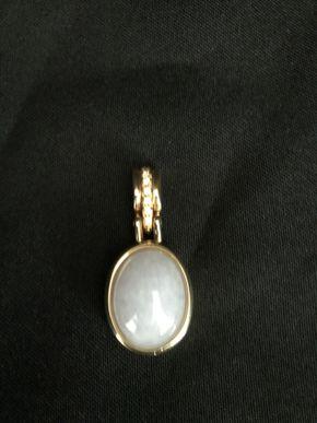 Lot 125 14K Gold Diamond and Lavender Jade Pendant PICK UP IN GARDEN CITY