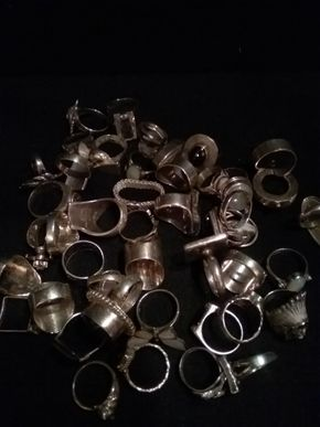 Lot 059 Lot Of Sterling Silver Rings PICK UP IN N BABYLON