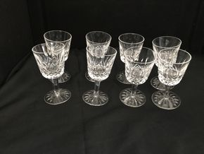 Lot 002 Lot Of 8 Waterford Cordial Glasses. 5 In H. PICK UP IN INWOOD.