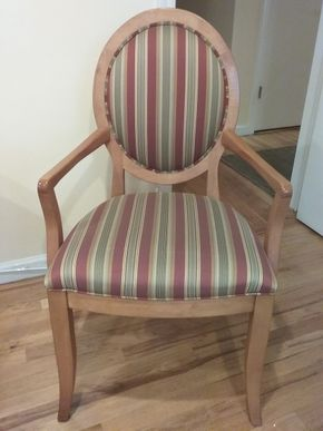 Lot 028 Pair Of Ethan Allen Custom Chairs 39x 19 x 33 PICK UP IN OCEANSIDE