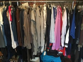 Lot 050 Group 5 Assortment of Clothing Items- Size Medium and Shoes-Size 8 PICK UP IN ROCKVILLE CENTRE