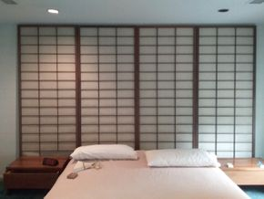 Lot 103 5 Panel Freestanding Shoji Screen One Panel Damaged One Extra Panel Not Shown Each Panel Is  8 Feet Tall And 36 Inches Wide PICK UP IN OLD BROOKVILLE