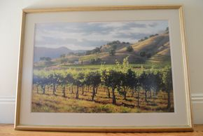 Lot 005  Print Vigna del Sole  by June Cary 20H x 30W PICK UP IN ROCKVILLE CENTRE