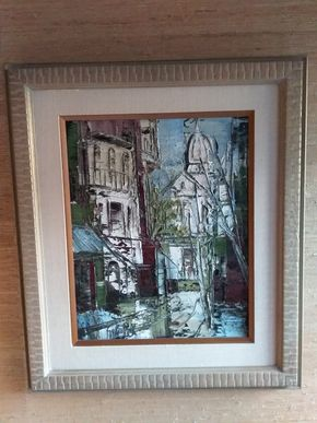 Lot 036 Sacre Cover Signed Sobossck 20 x 16 Oil on Canvas PICK UP IN MANHASSET