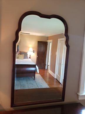 Lot 002 Wood Framed Mirror Dimensions Approx. 47H x 30.25W PICK UP IN GARDEN CITY,NY