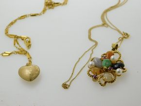 Lot 030 PICK UP IN RVC Lot of 2 14K Gold Necklaces PICK UP IN ROCKVILLE CENTRE, NY