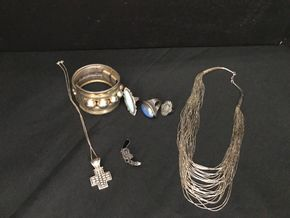 Lot 009 Lot Of Sterling Silver Jewerly Necklaces,Rings And Earring. PICK UP IN INWOOD.