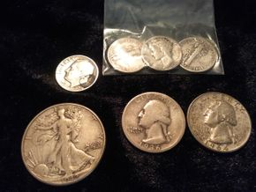 Lot 003 American Silver Coins 90 Percent Silver PICK UP IN WEST HEMPSTEAD