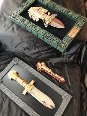 Lot 082 Lot of 3 Daggers including Dagger of The Maya Art with Knife and Decorative Sheath PICK UP IN NORTH MASSAPEQUA