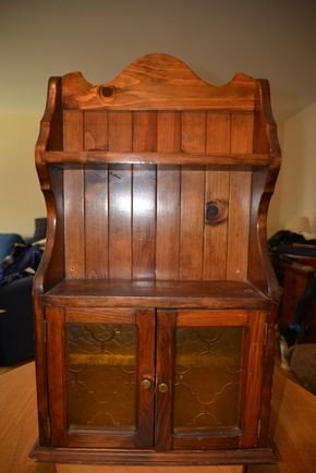Lot 022 Vintage Wall Cabinet 31H x 17.5W x 6L PICK UP IN MINEOLA, NEW YORK