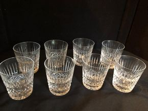 Lot 052 Lot Of 8 Waterford Glasses 3.5 Inches Tall PICK UP IN GARDEN CITY