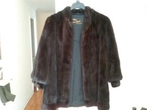 Lot 032 Short Ladies Mink Jacket Small Medium Brown PICK UP IN  N BALDWIN