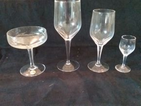 Lot 056 Lot Of Pasco Crystal. 24 Wine 12 Champagne 6 Cordial PICK UP IN OLD BROOKVILLE