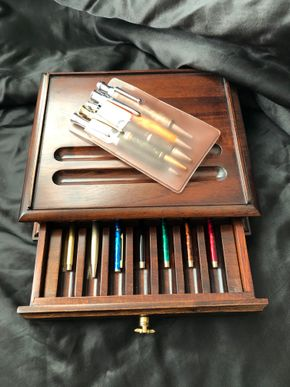Lot 081 Boxed Set of Assorted Ball Point Pens, Various makers including Parker, Garland, Lodis.  Empty Boxes, Refills, Accessories. Includes Display Box. 15 inches x 7 inches PICK UP IN NORTH MASSAPEQUA