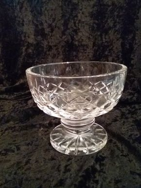 Lot 011 Waterford Footed Bowl 4.25H x 5 Diameter PICK UP IN GARDEN CITY