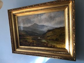 Lot 036 PU 20th Century Oil on board Signed Bruce Crane  38W X 28H with frame PICK UP IN RVC