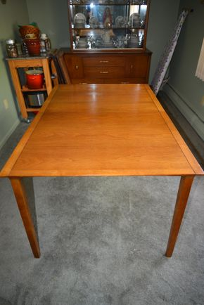 Lot 004 Pick UP Drexel Heritage Wood Dining Table 29H x 36W x 53L PICK w/3- Leafs 12W PICK UP  IN FLORAL PARK, NY